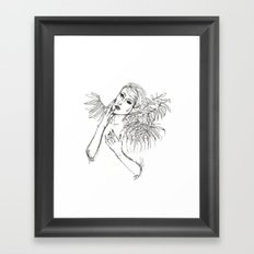 Lunar Mask Framed Art Print