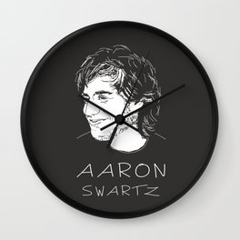 Aaron Swartz Tribute Artwork Wall Clock