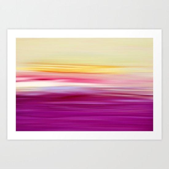 abstract sundown Art Print