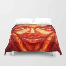 look at me /red/ Duvet Cover