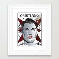 ronaldo Framed Art Prints featuring Cristiano Ronaldo by Colo Design