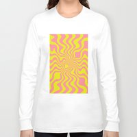 yellow pattern Long Sleeve T-shirts featuring Pattern yellow wave by LoRo  Art & Pictures