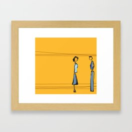 Woman and Man in Utah Framed Art Print