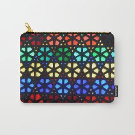 Geometric Stained Glass Carry-All Pouch