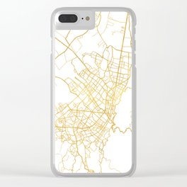 BOGOTA COLOMBIA CITY STREET MAP ART Clear iPhone Case