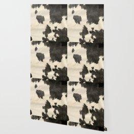 Black & White Cow Hide Wallpaper