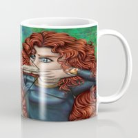 be brave Mugs featuring Brave by Kimberly Castello