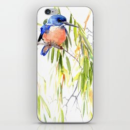 KIngfisher and Weeping Willow iPhone Skin