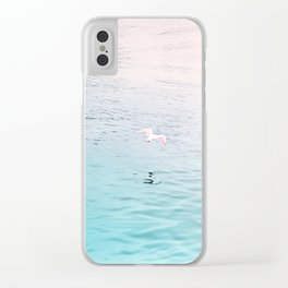 Seagull flying Clear iPhone Case