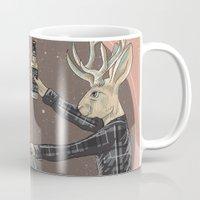 jackalope Mugs featuring Jackalope by Kelli Shaver