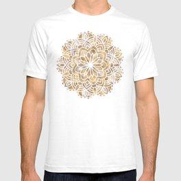 Mandala Multi Metallic in Gold Silver Bronze Copper T-shirt