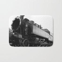 old steam locomotive Bath Mat