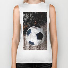 The soccer ball Biker Tank