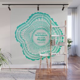 My List – Turquoise Ombré Wall Mural