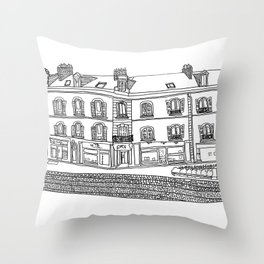 Street Corner in Le Mans, France Throw Pillow