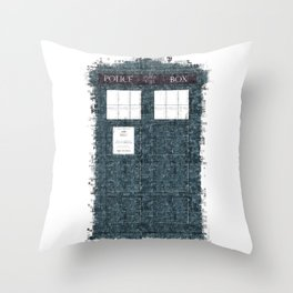 The Timey Wimey of Doctor Who Throw Pillow