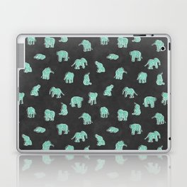 Indian Baby Elephants Black/Mint Laptop & iPad Skin