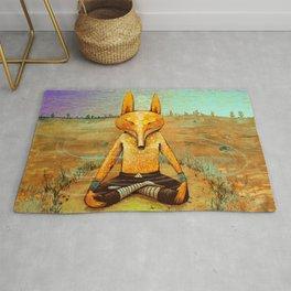 Fox meditation Rug
