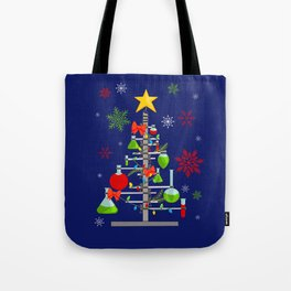 Red & Green Chemistree Tote Bag