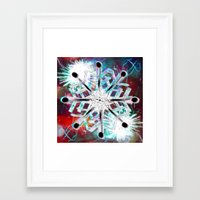 snowflake Framed Art Prints featuring Snowflake by Sarah Maurer