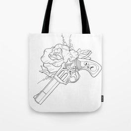 Gun n Rose Tote Bag