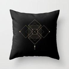 Square Geometry Black Throw Pillow