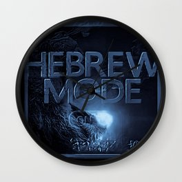 Hebrew Mode - On 01-06 Wall Clock