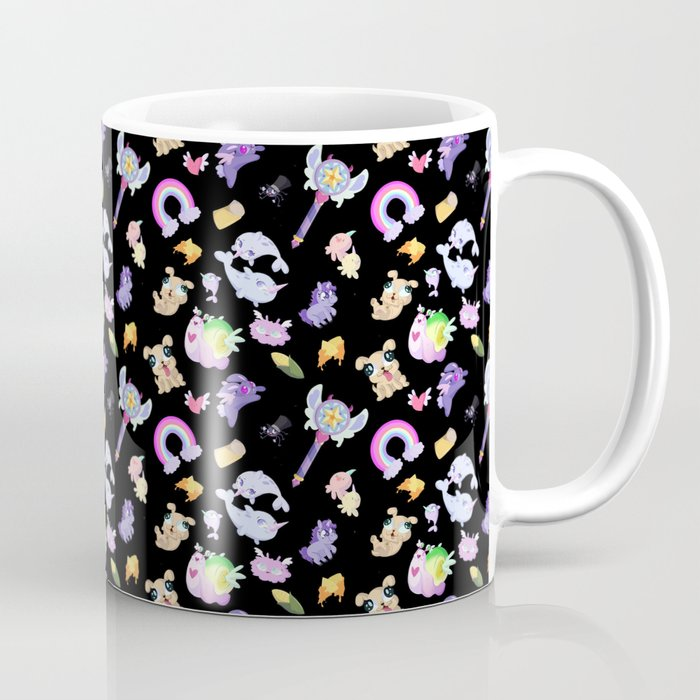 Star Vs The Forces Of Evil Pattern Black Coffee Mug