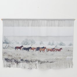 Winter Horse Herd Wall Hanging