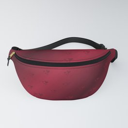 red heart shiny dark background Fanny Pack