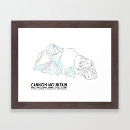 Cannon Mountain, NH - Minimalist Trail Art Framed Art Print