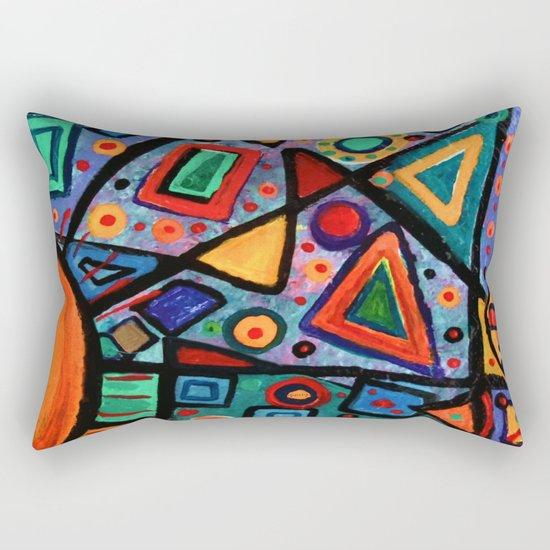 Abstract Sun Rectangular Pillow