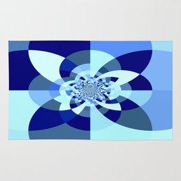 Blue Kaleidoscope Rug