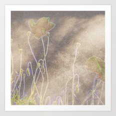 Abstract coquelicot Art Print
