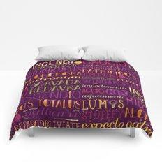 Standard Poster of Spells Comforters