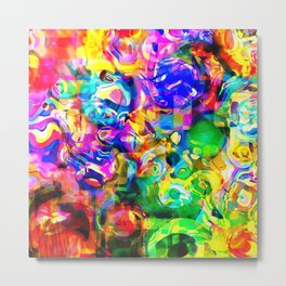 Psychedelic Abstract Metal Print