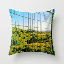 Greener on the Other Side Throw Pillow