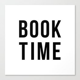 Book Time Canvas Print