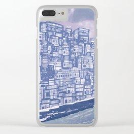Silver over Sepiantida / Indigo Clear iPhone Case
