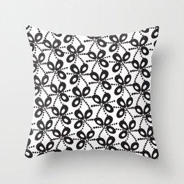 Quirky Black & White Throw Pillow