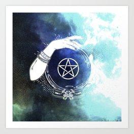 Mystic Cosmos Fortune Teller Art Print
