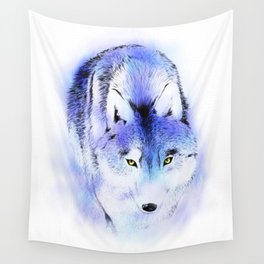 Stalking Wolf Wall Tapestry