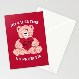 No valentine No problem Stationery Cards