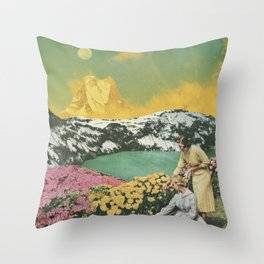 Golden Eden Throw Pillow