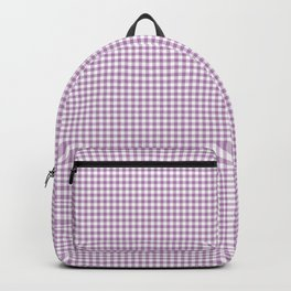 Lilac Gingham Check Backpack