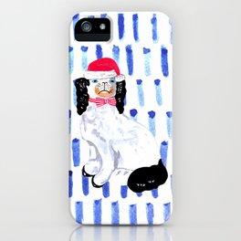 SANTA STAFFORDSHIRE DOGS iPhone Case