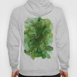 Abstract Bloom Green Gold Cactus Ink Hoody