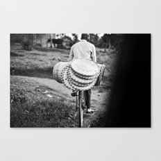 headed to market::uganda Canvas Print