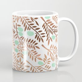 Olive Branches – Rose Gold & Mint Coffee Mug