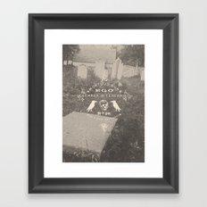 Mortuus Sum Framed Art Print